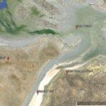 Satellite image of Dead Kultuk and Durnev Islands.